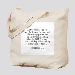 LEVITICUS  10:7 Tote Bag