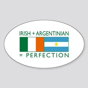Irish Argentinian flag Oval Sticker