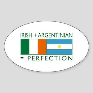 Irish Argentinian flag Oval Sticker