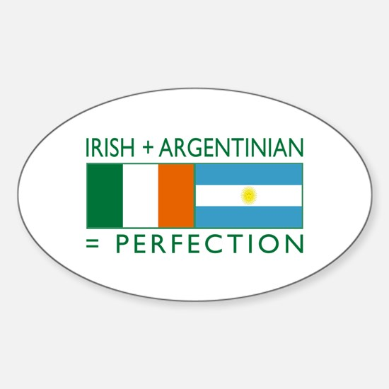 Irish Argentinian flag Oval Decal