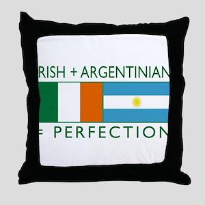 Irish Argentinian flag Throw Pillow