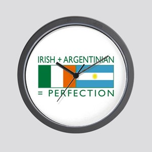 Irish Argentinian flag Wall Clock