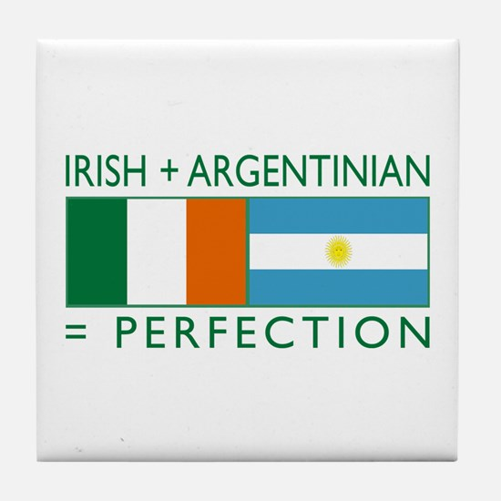 Irish Argentinian flag Tile Coaster