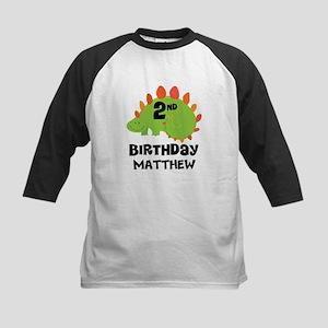 2nd Birthday Dinosaur Personalized Baseball Jersey
