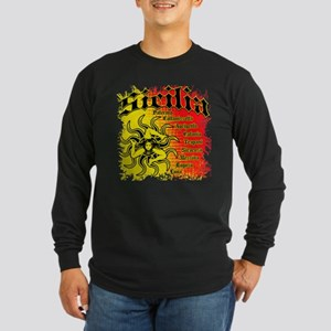 The 9 Provinces of Sicily Long Sleeve Dark T-Shirt