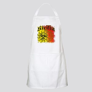 The 9 Provinces of Sicily BBQ Apron