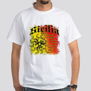 The 9 Provinces of Sicily White T-Shirt