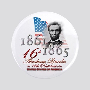 "16th President - 3.5"" Button"