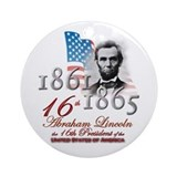 Abraham lincoln Round Ornaments
