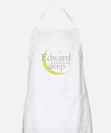 Edward watches me sleep BBQ Apron