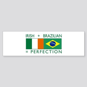 Irish Brazilian flag Bumper Sticker