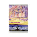 Thoreau's Sunset Rectangle Magnet