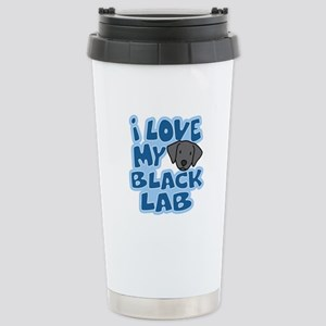 I Love my Black Lab Stainless Steel Travel Mug