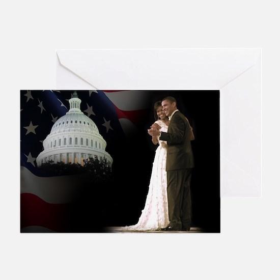 Inaugural Ball, Barack Michelle Obama Greeting Car