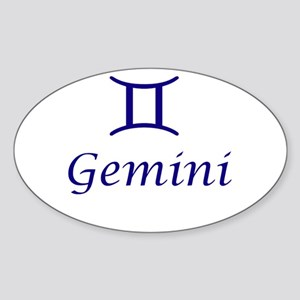Gemini Oval Sticker