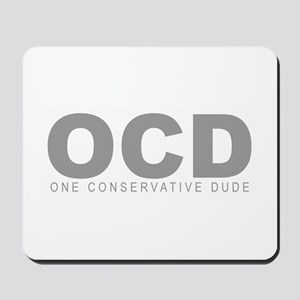 """""""One Conservative Dude"""" Mousepad"""