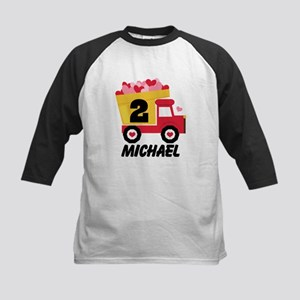 Personalized 2nd Birthday Truck Baseball Jersey
