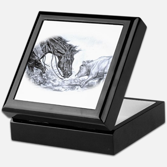 Cutting Horse Keepsake Box