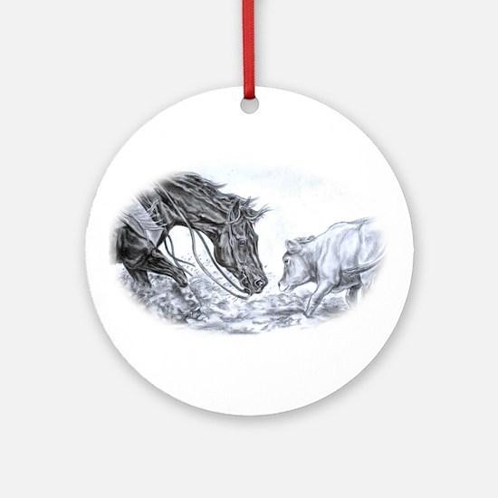 Cutting Horse Ornament (Round)