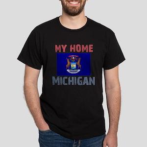 My Home Michigan Vintage Styl Dark T-Shirt