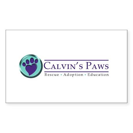 Calvin's Paws Sticker (Rectangle 10 pk)