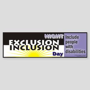 Inclusion Night and Day Bumper Sticker