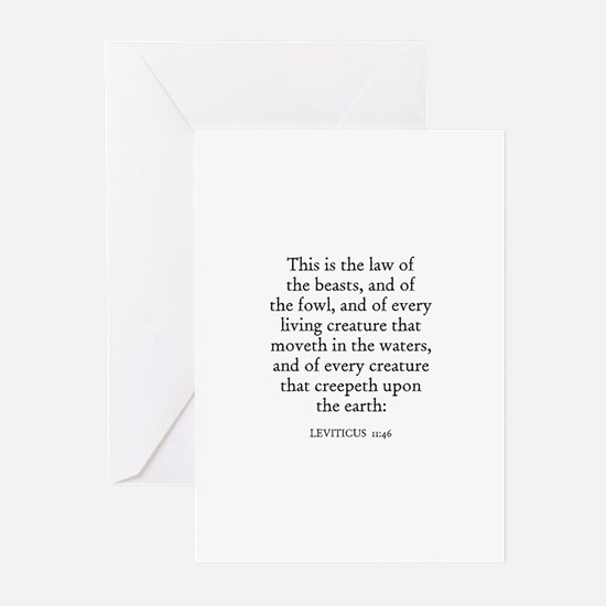 LEVITICUS  11:46 Greeting Cards (Pk of 10)