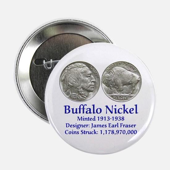 """Buffalo Nickel 2.25"""" Button"""