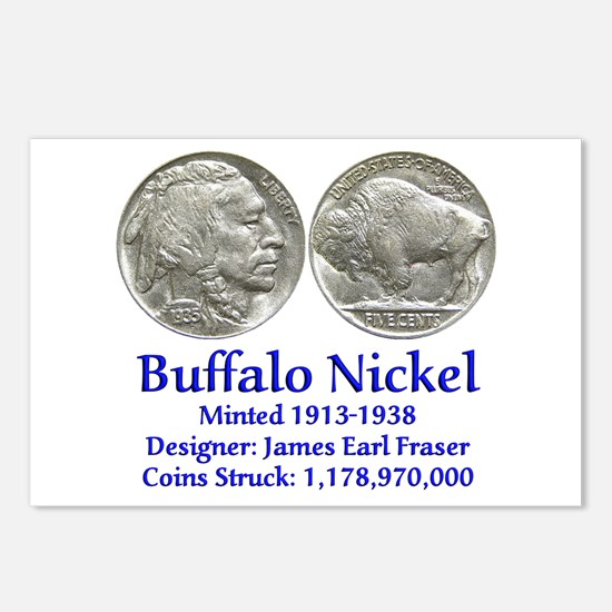 Buffalo Nickel Postcards (Package of 8)