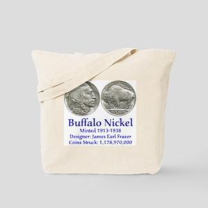 Buffalo Nickel Tote Bag