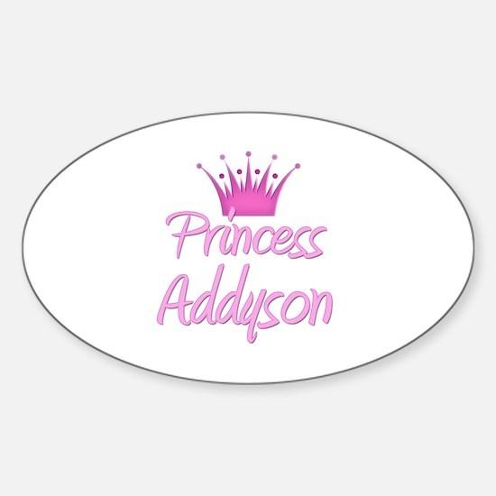 Princess Addyson Oval Decal