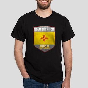 New Mexico USA Crest Dark T-Shirt