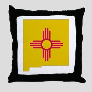 New Mexico Stripe Custom Desi Throw Pillow