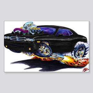 Challenger Black Car Rectangle Sticker