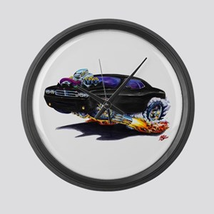 Challenger Black Car Large Wall Clock
