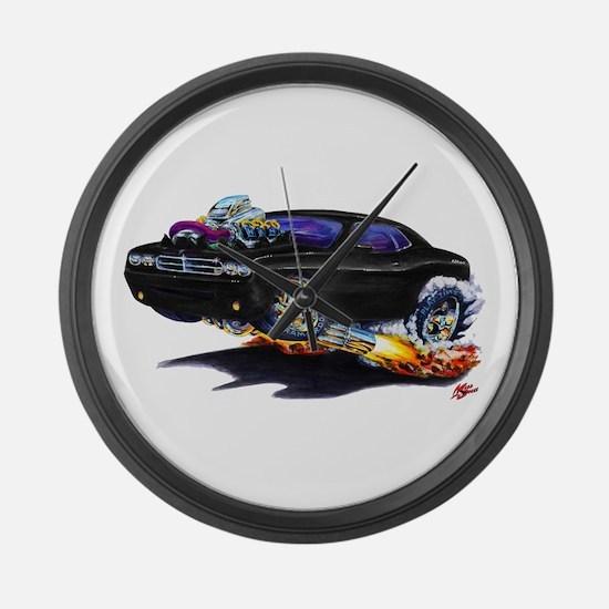 Challenger Black Car Large Wall Clock