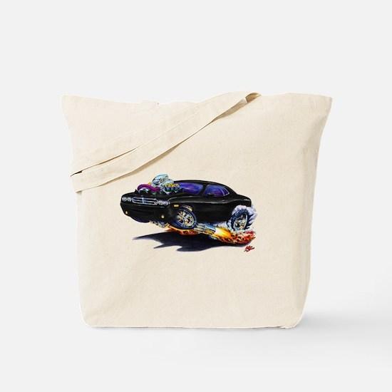 Challenger Black Car Tote Bag