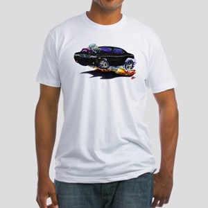 Challenger Black Car Fitted T-Shirt