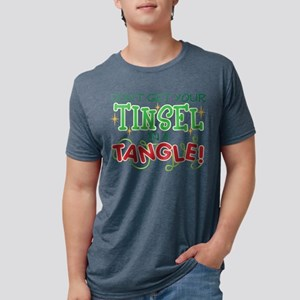 TINSEL IN A TANGLE Mens Tri-blend T-Shirt