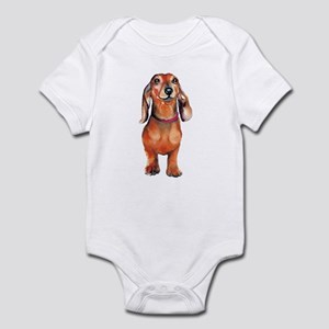 Red Dachshund Infant Bodysuit