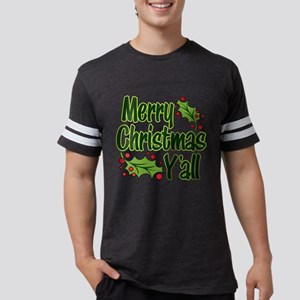 MERRY CHRISTMAS Y'ALL Mens Football Shirt