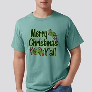 MERRY CHRISTMAS Y'ALL Mens Comfort Colors® Shirt