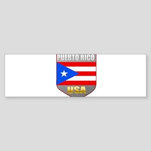 Puerto Rico USA Crest Bumper Sticker (10 pk)