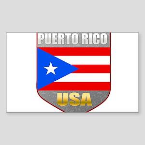Puerto Rico USA Crest Rectangle Sticker