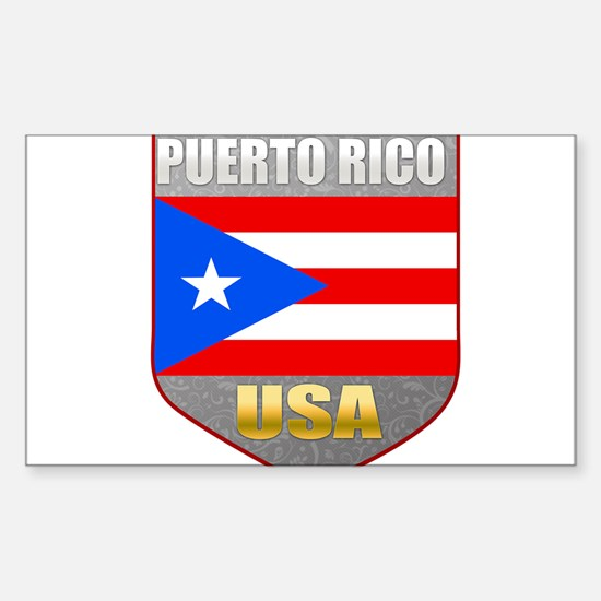 Puerto Rico USA Crest Rectangle Decal