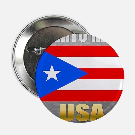 "Puerto Rico USA Crest 2.25"" Button"