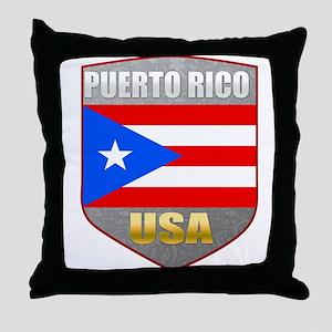 Puerto Rico USA Crest Throw Pillow