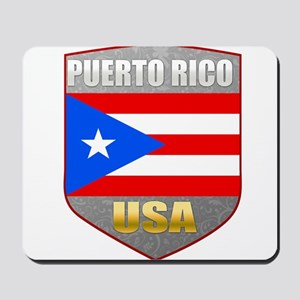 Puerto Rico USA Crest Mousepad