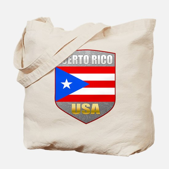 Puerto Rico USA Crest Tote Bag