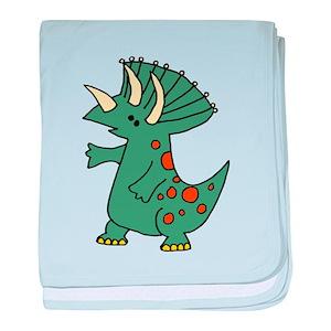 b0ee4b2bfbd2 Triceratops Baby Blankets - CafePress
